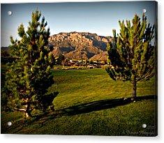 Tanoan Mountain Views Acrylic Print