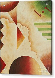 Taos Series- Architectural Journey #4 Acrylic Print by Teri Brown