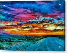 Taos Sunset Iv Wc Acrylic Print