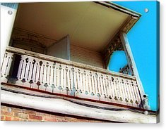 Acrylic Print featuring the photograph Tap Room Balcony by MJ Olsen