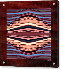 Tapestry On A Brick Wall Acrylic Print by Greg Reed Brown