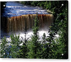 Taquamenon Falls Acrylic Print by Mark Caldwell