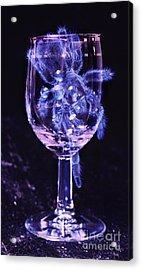 Tarantula On Wine Goblet Acrylic Print by Janeen Wassink Searles