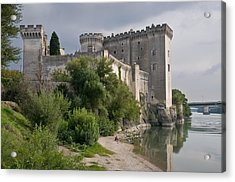 Tarascon Castle On The Rhone Acrylic Print by Kent Sorensen