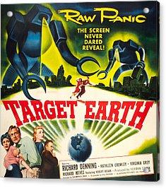 Target Earth, Bottom Left Kathleen Acrylic Print by Everett