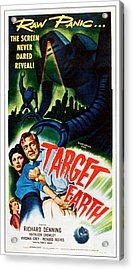 Target Earth,  From Left Kathleen Acrylic Print by Everett