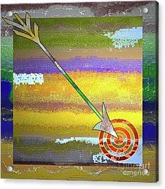 Target Acrylic Print by Gwyn Newcombe