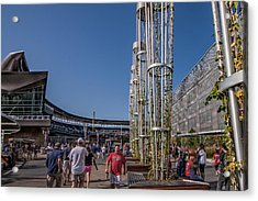 Acrylic Print featuring the photograph Target Plaza by Tom Gort