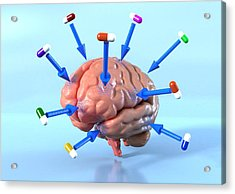 Targeted Psychological Drug Treatments Acrylic Print by David Mack