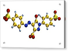 Tartrazine Food Colouring Molecule Acrylic Print