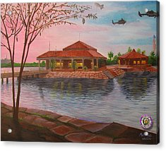 Task Force 134 Headquarters Acrylic Print by Michael Matthews