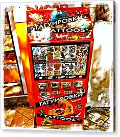 Tattoo Vending Machine. #varna #tattoo Acrylic Print by Richard Randall