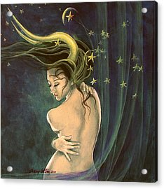 Taurus From Zodiac Series Acrylic Print by Dorina  Costras