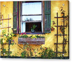 Acrylic Print featuring the photograph Tavern Window by Ginny Schmidt