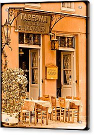 Athens, Greece - Taverna Acrylic Print
