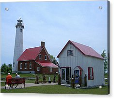 Tawas Point Lighthouse And Store Acrylic Print