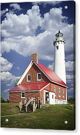 Tawas Point Lighthouse In Michigan Number 0007 Acrylic Print by Randall Nyhof