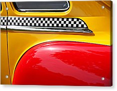 Taxi 1946 Desoto Detail Acrylic Print by Garry Gay