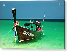 Taxi Boat Acrylic Print by Adrian Evans
