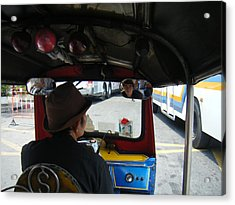 Taxi Ride Through Bangkok Acrylic Print