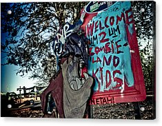 Taz Welcomes You To Zombie Land Acrylic Print by Pixel Perfect by Michael Moore