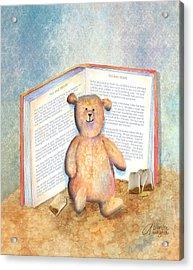 Tea Bag Teddy Acrylic Print by Arline Wagner