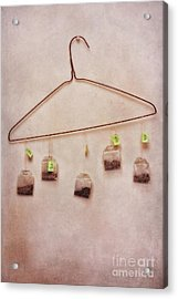 Tea Bags Acrylic Print by Priska Wettstein