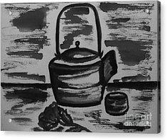 Tea For Me Acrylic Print by Marsha Heiken
