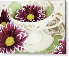 Tea Petals Acrylic Print by Kim Fearheiley