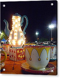 Acrylic Print featuring the photograph Tea Pot And Cups Ride by Renee Trenholm