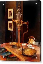 Tea Scale Acrylic Print by Susan Savad