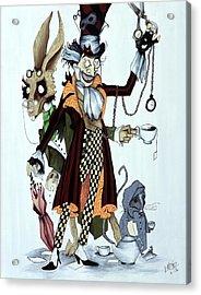 Tea Time Acrylic Print by Leeann Stumpf