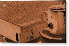 Tea With Jesus Acrylic Print by Shannon Redmon