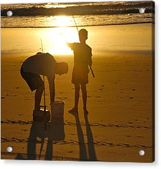 Acrylic Print featuring the photograph Teach A Man To Fish... by Eric Tressler
