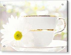 Teacup Filled With Sunshine Acrylic Print by Kim Fearheiley