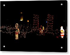 Teakwood Island Toy Soldier To Standing Santa Acrylic Print by John Wright