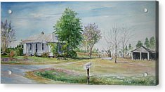 Acrylic Print featuring the painting Teals Mill Country Home by Gloria Turner