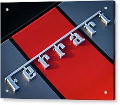 Team Ferrari Acrylic Print by Douglas Pittman