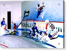 Team Sports Mural Acrylic Print by Hanne Lore Koehler
