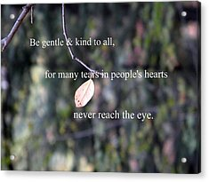 Acrylic Print featuring the photograph Tears In People's Hearts by Michelle Frizzell-Thompson