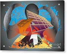 Acrylic Print featuring the digital art Technocrat by Leo Symon