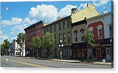 Tecumseh Traffic Light Acrylic Print by MJ Olsen