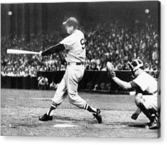 Ted Williams Of The Boston Red Sox Acrylic Print by Everett