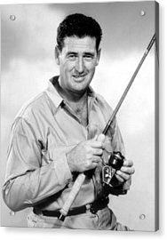 Ted Williams, With His Signature Acrylic Print by Everett