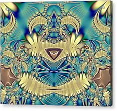 Teddy Acrylic Print by Sharon Lisa Clarke