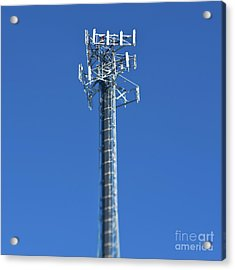 Telecommunications Tower Acrylic Print by Eddy Joaquim