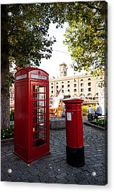 Telephone And Mail Box Acrylic Print