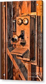 Telephone - Antique Hand Cranked Phone Acrylic Print by Paul Ward