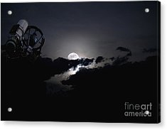 Telescope Pointed Out To The Night Sky Acrylic Print by Roth Ritter