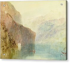 Tell's Chapel - Lake Lucerne Acrylic Print by Joseph Mallord William Turner